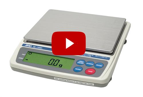 VIDEO: Cách CAL cân điện tử AND EK 1200I